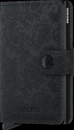 Afbeelding van Zwarte Secrid Miniwallet Holiday Special pasjeshouder paisley black