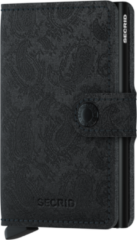 Zwarte Secrid Miniwallet Holiday Special pasjeshouder paisley black
