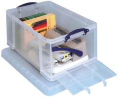 Really Useful Box opbergdoos 64 liter met opening aan de voorkant, transparant