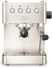 Roestvrijstalen Solis Barista Gran Gusto 1014 Espressomachine - Piston Koffiemachine met Bonen - RVS