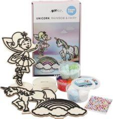 Foam Clay Houten Themaset Unicorn Voor Decoratie 10-delig