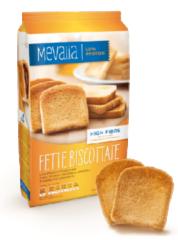 Mevalia Fette Biscottate fette di pane biscottato aproteico 3x90g