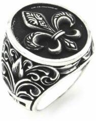 Zijou Zilveren heren ring ancient model - 18.25 mm / maat 57