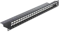 Quality4All DeLOCK 19? Schlussstein Patch Panel 24-Port mit Zugentlastung - Qualit