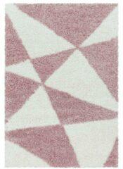 TANGO SHAGGY Himalaya Maxima Soft Shaggy Hoogpolig Vloerkleed Roze / Wit- 120x170 CM