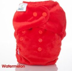 Bambooty wasbare luier watermelon rood - met inlegger - basics all-in two - one size