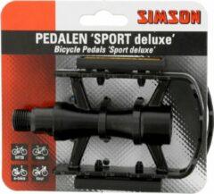 Simson Pedalen Set Sport Deluxe 9/16 Inch Zwart