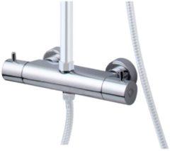Praya Wiesbaden Caral losse thermostatische kraan voor douche-opbouwset chroom 29.6105