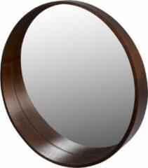 Pekodom Spiegel Rond Multiplex Walnoot Berken 50x50x8,5cm
