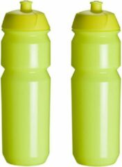 2 x Tacx Shiva Bidon - 750 ml - Fluo Geel Drinkbus