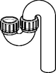 Geberit buissifon PE, PE (Polyethyleen), zwart, 40mm, sp bak, in hoogte verstelbaar