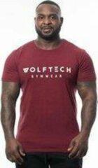 Donkerrode Wolftech Gymwear Sportshirt Heren - Rood / Bordeaux - M - Slim Fit - Sportkleding Heren