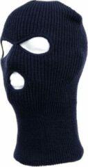 Merkloos / Sans marque Driegaats muts / skimuts - blauw - one size - outdoor / bivak / wintersport - warme eengaats balaclava