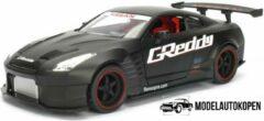JADA 2009 Nissan GT-R Ben Sopra (Mat Zwart) 1/32 JDM Tuners - Modelauto - Schaalmodel - Model auto - Miniatuurautos - Miniatuur auto