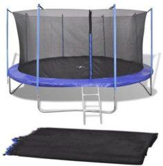 VidaXL Veiligheidsnet voor 4.26 m ronde trampoline PE zwart