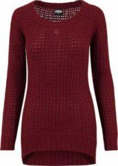 Bordeauxrode Urban classics Trui Long Wideneck Sweater - Modern - Trui Dames Sweater Maat L