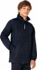 Windjas/regenjas voor jongens marineblauw maat 5-6 jaar (110/116)