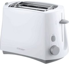Cloer 331 Toaster 331, 825 Watt, für 2 Toastscheiben, weiß, weiß (1 Stück)
