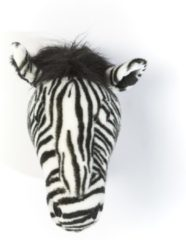 Zwarte Wild & Soft Wild&Soft- Wanddecoratie dierenkop pluche zebra Daniel