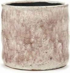Serax Bloempot Flame Rose-Roze-Wit H 16,5 cm D 17,5 cm