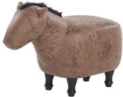 Beliani Horse Hocker Kunstleer 32 X 64 Cm