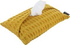 Louka hoes voor babydoekjes wafel oker geel