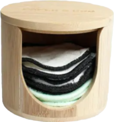 Bruine Shampoo Bars Wasbare wattenschijfjes houder
