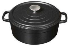 Zwarte Sürel Gietijzeren braadpan mat zwart, 20cm - S�rel