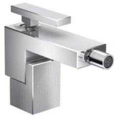 Hansgrohe AXOR Edge 1-gats bidetkraan met push open garnituur chroom/diamond cut 46211000