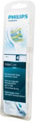 Philips Zahnbürste Zahnbürsten-Set (InterCare kompakte Aufsteckbürsten, 4 Stück) für Zahnbürste HX9014