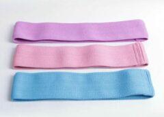 DW4Trading® - Weerstandsbanden blauw-roze-paars set van 3