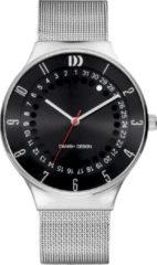 Zilveren Danish Design watches edelstalen herenhorloge New York Black Mesh IQ63Q1050