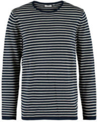 Marineblauwe America Today gestreepte sweater navy/ecru