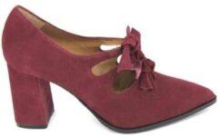 Bordeauxrode Pumps Estiletti 2578 Zapatos de Vestir de Mujer