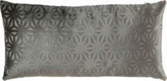 Mica Decorations Kussen Flower 60 X 30 Cm Polyester Grijs