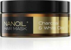 Nanoil Houtskool & Witte Klei Haarmasker 300ml