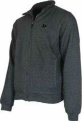 Donnay sweater zonder capuchon - Sporttrui - Heren - Maat S - Donkergrijs gemêleerd