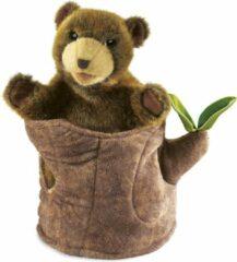 Folkmanis Bear in Tree Stump