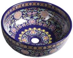Waskom Sapho Priori Rond 40.5x15.5 cm Keramiek Paars met Ornamenten