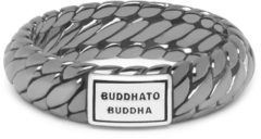 Buddha to Buddha 125BR-SS Ring Ben XS Black Rhodium Shine Silver Maat 17,5