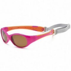KOOLSUN - Flex - Kinder zonnebril - Hot Pink Orange - 3-6 jaar - UV400 - Categorie 3