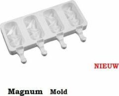 MTCE Shock Magnum Siliconen Bakvorm - Magnums Maker - Ijs Maker - Shock mold - Chocoladevorm - Bakvormen - Siliconen mal - Kleur Wit