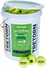 Tretorn Academy groen Bucket Emmer met 72 Tennisballen - Stage 1 Groen
