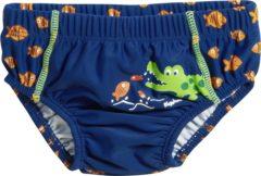 Blauwe Playshoes UV wasbare Zwemluier Kinderen Krokodil - Blauw - Maat 74/80