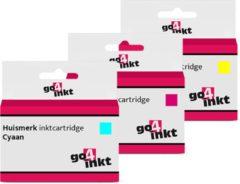 Go4inkt compatible met Canon CLI-8 5x multipack inktcartridges - 15 stuks - cyaan, magenta, yellow
