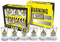 Ingifts Shot glaasjes waarschuwingsborden