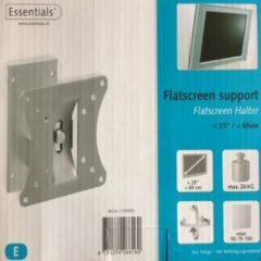 Zilveren Essentials Flatscreen muurbeugel geschikt tot 25 Inch monitoren