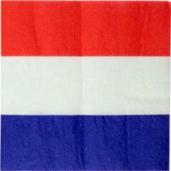 Santex 40x Nederland thema servetten 33 x 33 cm - Holland - Landen thema tafeldecoratie versieringen - Papieren servetjes