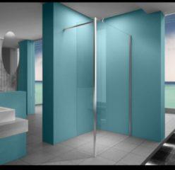 Douche Concurrent Inloopdouche Eco met Zijwand 120x200cm 30x200cm Antikalk Helder Glas Chroom Profiel 8mm Veiligheidsglas Easy Clean