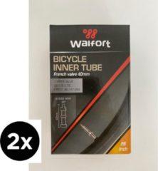 2x Fiets Binnenband met Dunlop Ventiel | Walfort | Fietsband | Stadsfiets Band | Fietsonderdelen| 26 x 1,5/1,75 | 40mm
